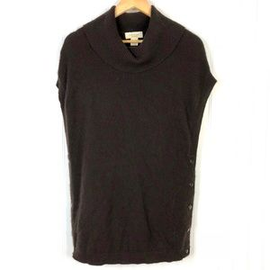 Peck & Peck Cashmere Turtleneck Scoop Sweater Sz L